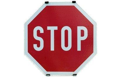 Stop Knie - Keine Haftung