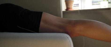 Kreuzbandriss Übungen für Streckung Reha