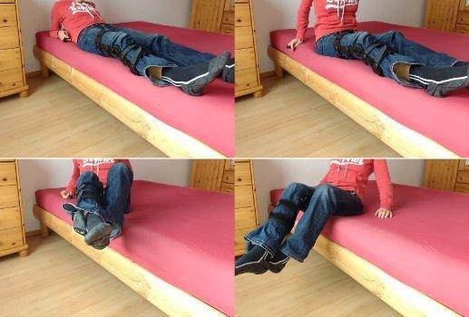 Alltag mit Krücken - Aufstehen aus dem Bett nach Knie-OP