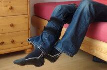 Alltag mit Krücken nach Knie-OP