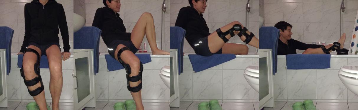 Duschen nach Arthroskopie im Knie - Anleitung Teil 1